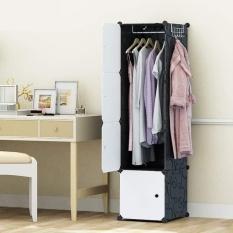 Tủ quần áo nhựa ghép mini 4 ô nhiều màu sắc có xào treo và móc treo đồ gia dụng giá chỉ 259K