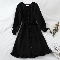 [Yến Trần] Đầm Vintage – Váy Baybedoll Hàn Quốc Cổ Đức Thắt Eo Chất Nhung Tăm