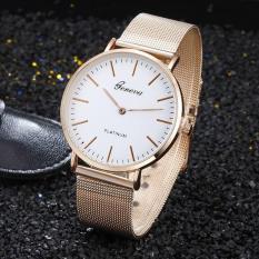(Tặng kèm hộp và pin) Đồng hồ thời trang nam Geneva dây lưới nhựa