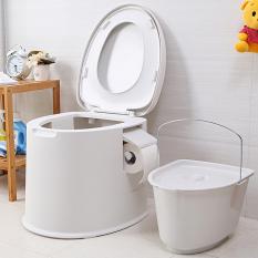 Ghế bô vệ sinh trong nhà, chất liệu ABS, hàng nhập khẩu, thích hợp cho bà bầu, người cao tuổi, tải trọng 150kg, bảo hành 9 tháng