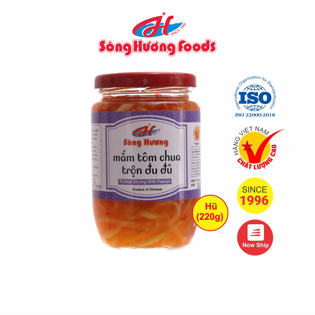 Mắm Tôm Chua Trộn Đu Đủ Sông Hương Foods Hũ 220g