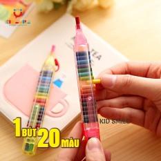 1 BÚT 20 MÀU bút sáp màu thông minh đầy đủ màu trên 1 bút tiện lợi, đáng yêu, dễ cất giữ và mang đi, đồ chơi cho trẻ em từ 3 tuổi trở lên