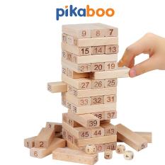Trò chơi rút gỗ cao cấp Pikaboo 54 thanh kèm 4 xúc xắc