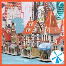 Mô hình nhà gỗ diy – đồ chơi gỗ thông minh lắp ráp nhà đa dạng