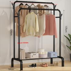 [𝗙𝗿𝗲𝗲𝗦𝗵𝗶𝗽] Giá kệ treo quần áo thông minh VANDO có chỗ để giày dép tiện lợi (Chất liệu thép carbon siêu cứng))