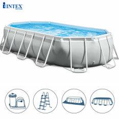 Bể bơi khung kim loại chịu lực OVAL dài INTEX 26796 26798