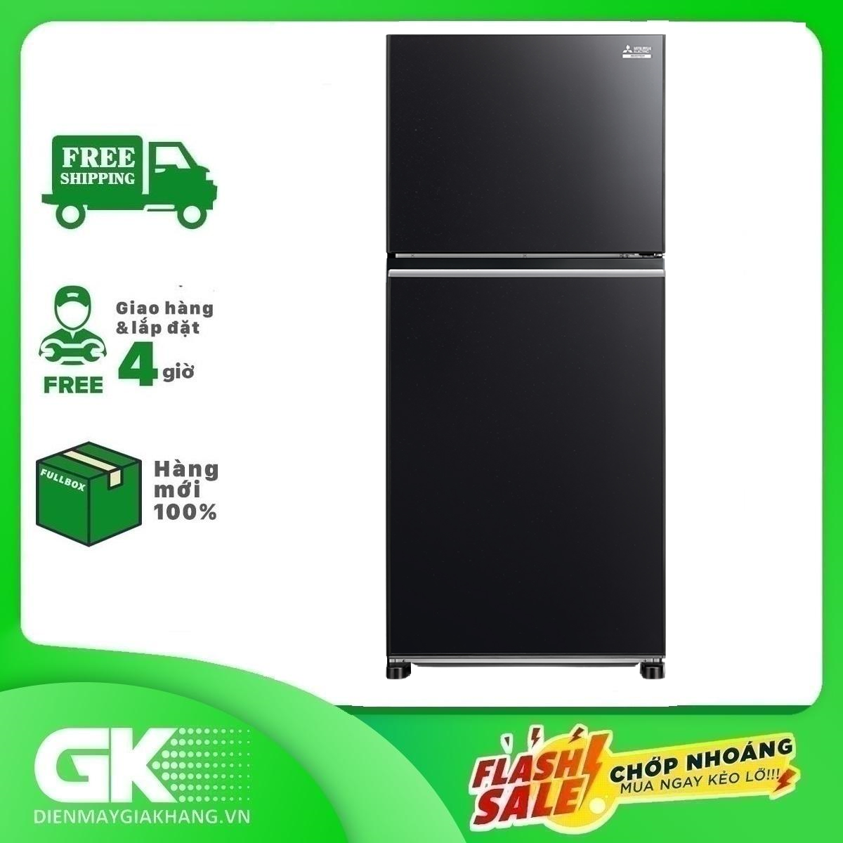 TỦ LẠNH MITSUBISHI ELECTRIC MR-FX47EN-GBK-V