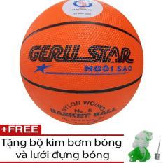 Bóng rổ cao su cam Geru Star số 5