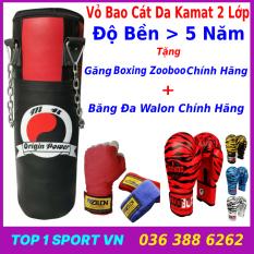 SET vỏ bao cát boxing dây xích 3 lớp – combo 4 món – 1 đôi găng tay boxing mma, 1 cặp dây quấn dài 3m, 1 bộ xích treo bằng sắt siêu bền