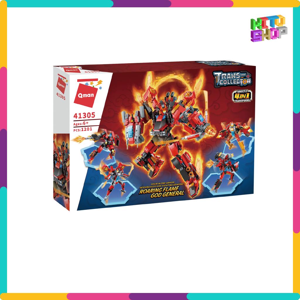 Bộ Đồ Chơi Xếp Hình Thông Minh Lego Qman 1201 Mảnh Ghép: Red Soldier 41301-41305 Cho Trẻ