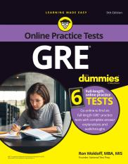GRE For Dummies with Online Practice 9th Edition