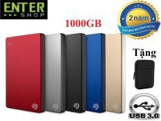 [Nhập ELJAN12 giảm 10%, tối đa 200k, đơn từ 99k]Ổ cứng di động 1Tb Seagate Backup Plus Slim 2.5inch USB 3.0 + Tặng túi bảo vệ
