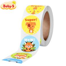 Sticker khen thưởng tiếng Anh, cuộn 500 sticker khen thưởng khích lệ tinh thần học tập cho bé yêu với nhiều họa tiết bắt mắt thú vị Baby-S – SST013