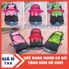 Ghế rung nhún có thanh treo – Tặng kèm đồ chơi cho bé tải trọng 25kg dễ dàng di chuyển đi xa có đai an toàn 3 điểm