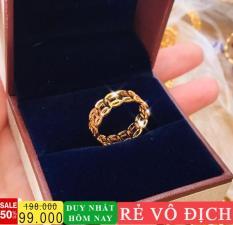 Nhẫn thời trang nữ cao cấp, nhẫn kim tiền sang trọng, nhẫn nữ vàng 18k Gadoshop VN08081901 – đeo đi tiệc vô cùng sang trọng