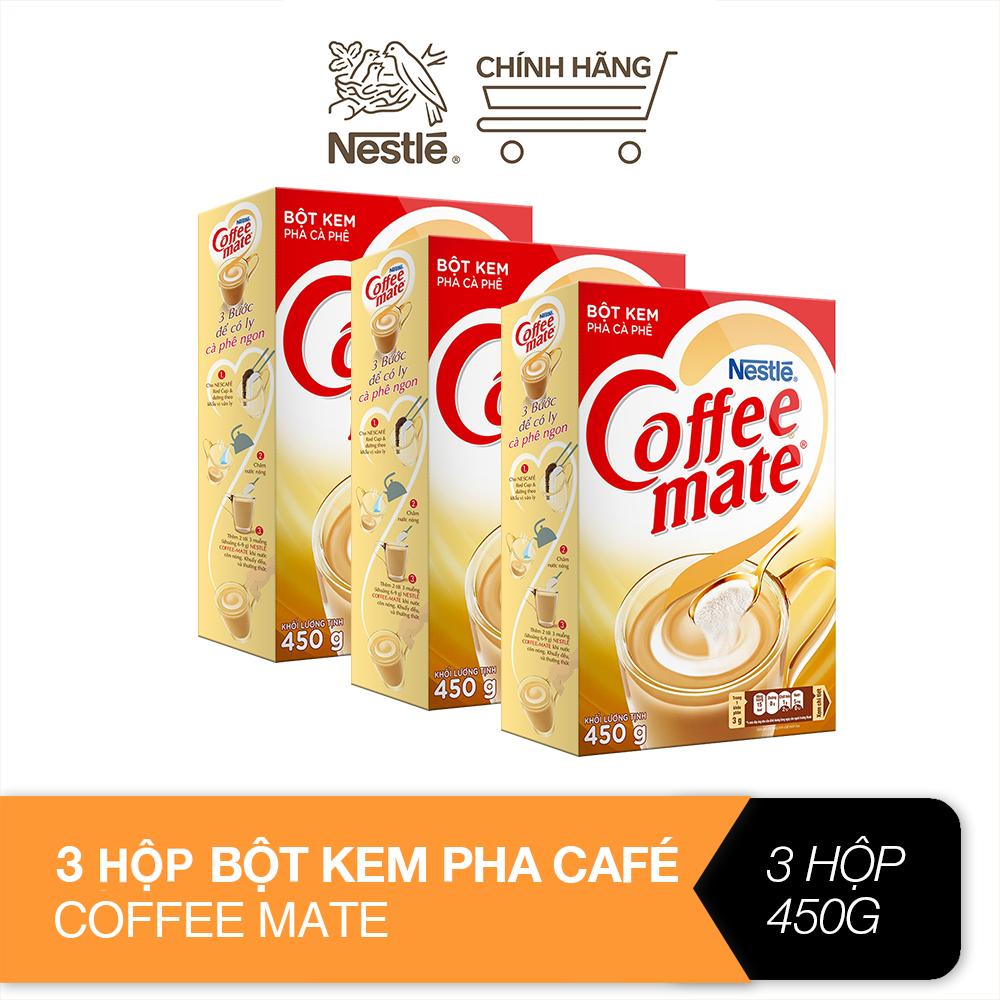 Combo 3 bột kem pha café Coffee Mate (hộp 450g)
