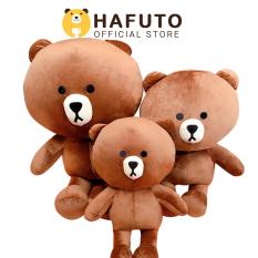Gấu bông Hafuto | Gấu brown khổ vải 1m size thật 80cm màu socola quà tặng cho bạn gái | đồ chơi trẻ em