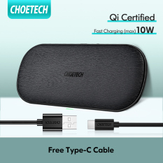 [Hot deal] Sạc nhanh không Dây Kép CHOETECH Tương Thích Với iPhone 11/11 Pro Max/X/Xs/XS Max, Samsung Galaxy Note 10/Note 10 +/S10/S10 +, AirPods Pro