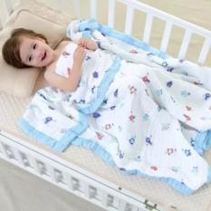 Chăn sợi tre cao cấp ADEN 6 lớp mềm mịn cho bé kích thước 120 * 120cm an toàn cho làn da nhạy cảm của bé đồng thời có tính kháng khuẩn cao – TINI KIDS PLAZA