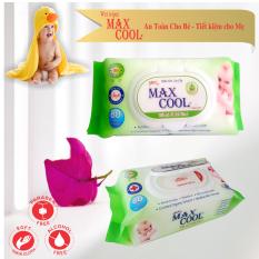 2 gói khăn ướt cao cấp Max Cool 80 tờ không hương