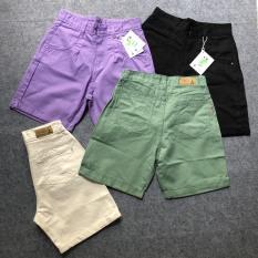 Quần Ngố Jeans ống rộng đủ màu hàng đẹp kèm Clip và hình thật
