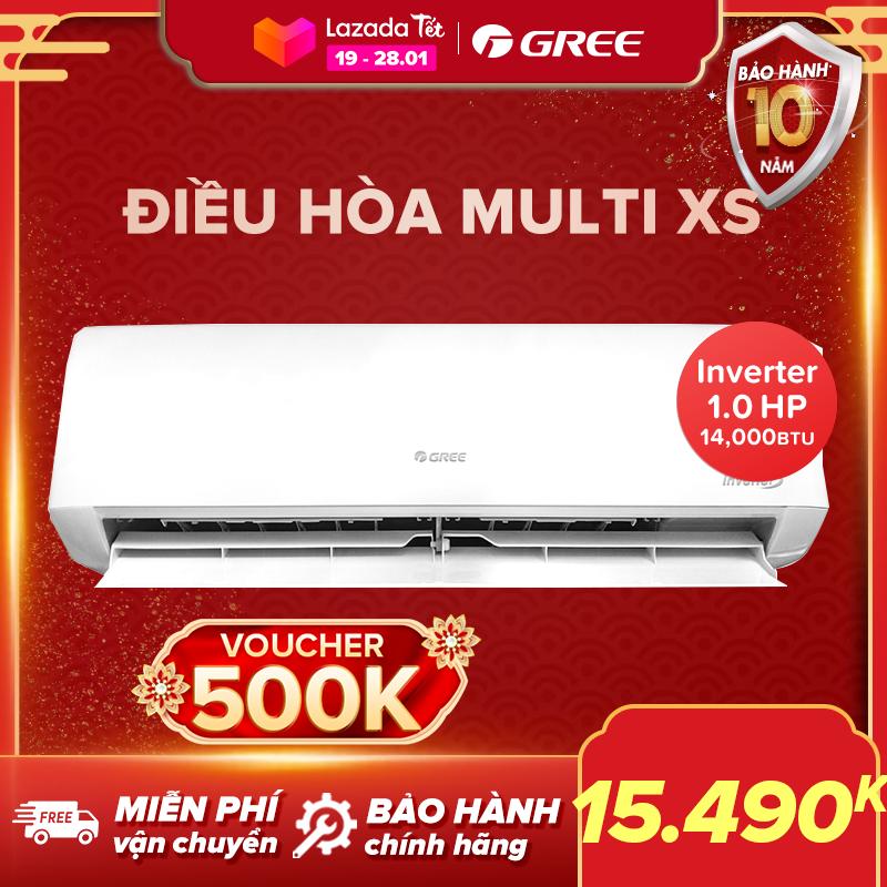Điều hòa GREE- công nghệ Real Inverter -1 dàn nóng 14.000 BTU kết hợp với 2 dàn lạnh 7000 BTU và 9000 BTU – MULTI XS(Trắng) – Hàng phân phối chính hãng