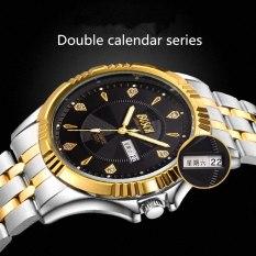 Đồng hồ nam Bosck 3021 dây thép không gỉ, mặt pha đen