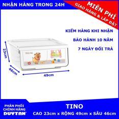 Tủ nhựa Duy Tân TINO 1 tầng – Chồng nhiều tầng với nhau thành tủ lớn hơn