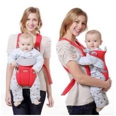 Địu 4 tư thế cho bé êm ái thoáng khí đệm vai trợ lực an toàn
