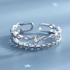 Nhẫn Nữ Nhẫn Bạc Nữ S925 Dạng Nhẫn Kép Điều Chỉnh Được Size – N2619 – Bảo Ngọc Jewelry