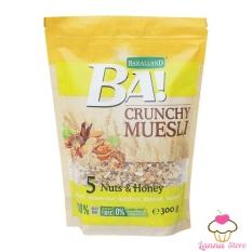 [GIẢM CÂN] Ngũ cốc Ăn Kiêng Bakalland Crunchy Muesli 300gr gói Vàng – Ba Lan