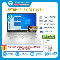 [VOUCHER 10% max 2 Triệu 27-29/3][Trả góp 0%] Laptop HP 15s-fq1107TU Core i3-1005G1(1.20 GHz4MB)4GB RAM256GB SSDIntel UHD Graphics15.6″HDWlan ac+BT3cellWin 10 Home 64Silver1Y WTY-193Q3PA – Hàng Chính Hãng