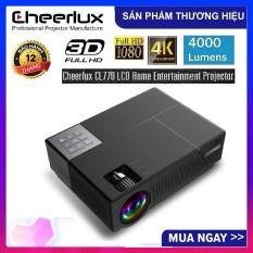 Máy chiếu FULL HD Cheerlux CL770 projector 1920×1080 , đèn Led 175W, 4000 Lumens sáng rỏ, chức năng Zoom, điều chỉnh vuông hình 4 chiều, phù hợp xem phim tại gia, cafe bóng đá, phòng họp.