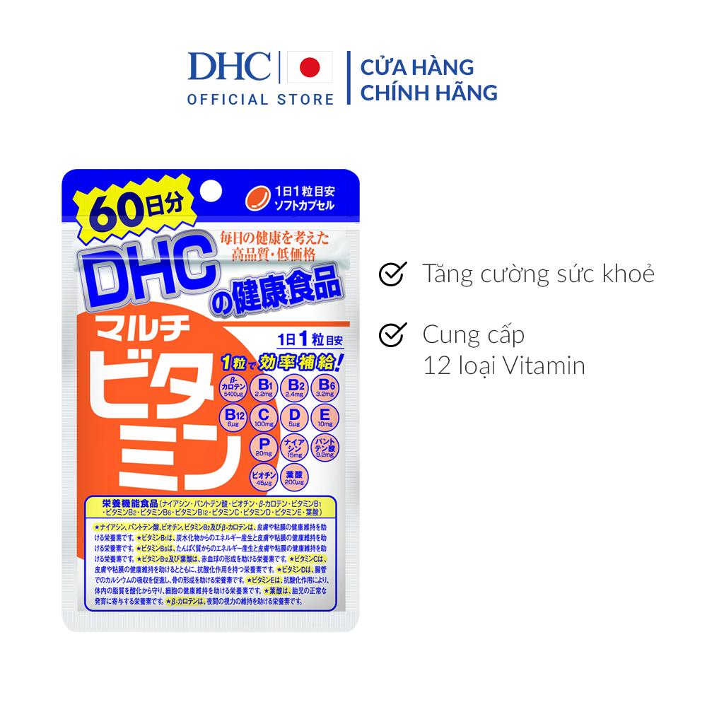 Viên uống DHC Multi Vitamin Tổng Hợp Gói 60 Ngày