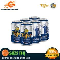 [Siêu thị Lazada] – Lốc 6 lon bia Tiger 330ml Phiên bản đặc biệt – Street Football