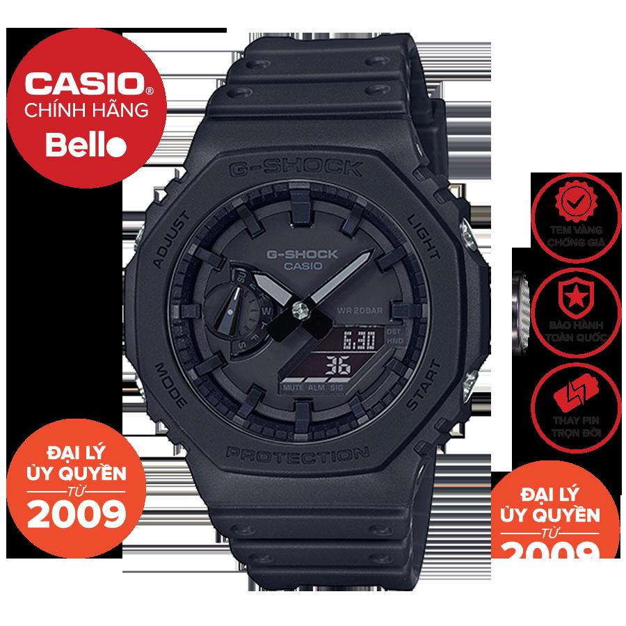 Đồng hồ Nam dây nhựa Casio G-Shock GA-2100-1A1 chính hãng bảo hành 5 năm Pin trọn đời