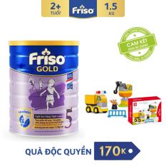 [Freeship toàn quốc] Sữa bột Friso Gold 5 1.5kg + Tặng 1 Bộ lắp ghép xe ô tô trị giá 170K