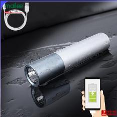 Đèn Pin Led Siêu Sáng Mini Có Sạc USB Có Hỗ Trợ Sạc Dự Phòng Lại Cho Điện Thoại Khẩn Cấp – Hàng Chính Hãng