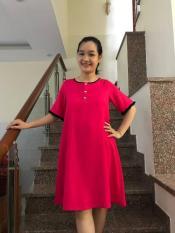 Đầm bầu tay loe (hồng)