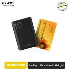 Pin sạc dự phòng 10.000mAh nhỏ số 1 thế giới, siêu nhẹ Joway JP191 – Hãng phân phối chính thức