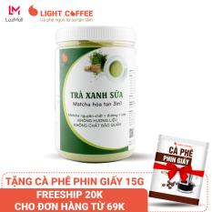 [TẶNG CÀ PHÊ PHIN GIẤY] Bột trà xanh sữa 3in1 GreenD Food – Hũ 550gr