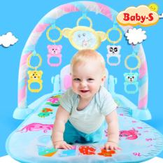 [HCM]Thảm nhạc nằm chơi cho bé sơ sinh đa năng có đàn piano vui nhộn và móc treo hình thú ngộ nghĩnh Baby-S – SDC038