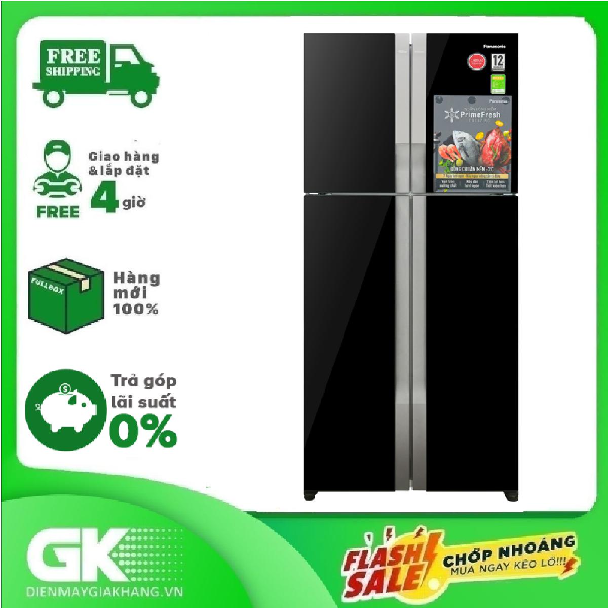 [Nhập mã EXCLUSIVE giảm thêm 10%] TRẢ GÓP 0% – Tủ lạnh Panasonic Inverter 550 lít NR-DZ600GKVN- Bảo hành 2 năm