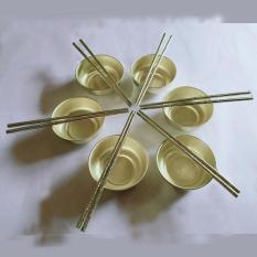 bộ 6 bát đũa bằng đồng trong phong thủy tâm linh