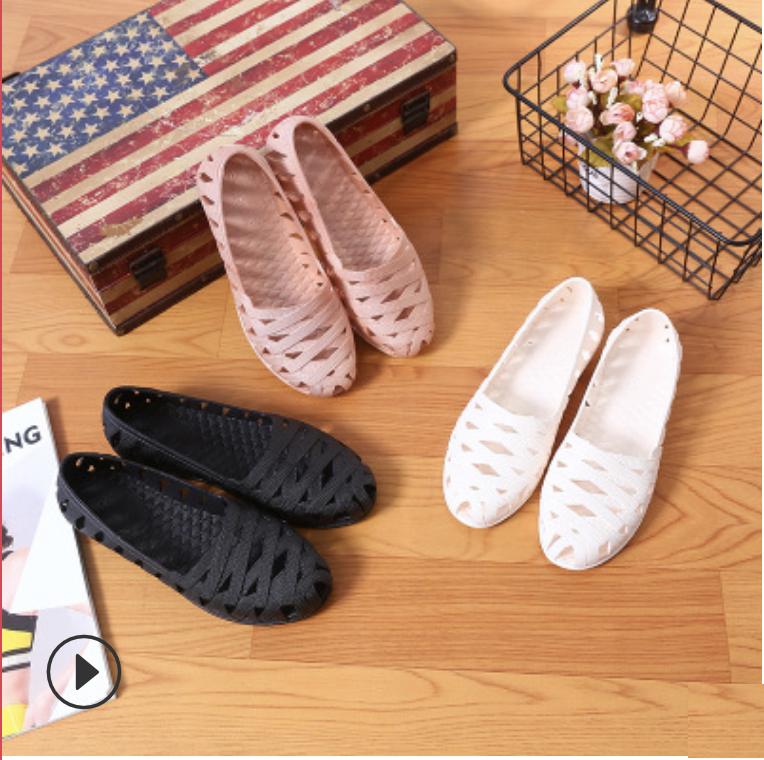 Giày Đi Mưa Thời Trang Nữ Siêu Dễ Thương Dạng Đan Ô Thiết Kế Tinh Tế Kiểu Dáng Thời Trang Trẻ Trung Thoải Mái Vận Động
