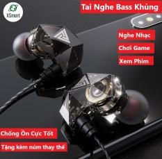 Tai nghe nhét tai QKZ AK2 Pro 2020 Âm bass mạnh mẽ chất lượng âm thanh HD nghe nhạc chơi game có micro đàm thoại tương thích điện thoại phone máy tính bảng pc laptop