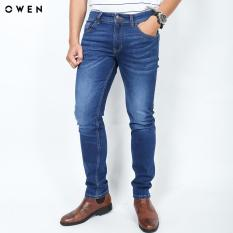 OWEN – Quần Jeans nam màu xanh Slim QJD91395