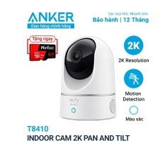 [Tặng thẻ nhớ 64Gb] Camera wifi trong nhà xoay 360 độ Eufy Indoor 2K Pan and Tilt – T8410