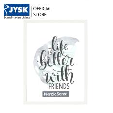 Khung ảnh | JYSK Nordicsense | nhựa PVC | 18x24cm (Trắng)