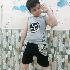 Bộ quần áo bé trai mùa hè thun cotton 4 chiều dày mịn mẫu mã hiện đại( xả kho màu trắng, đen, xám)
